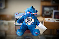 A President George W. Bush bear in The Red Bull gift shop and Bush memorabilia store in Crawford, Texas, US, Wednesday, April 14, 2010. The Red Bull store is the last remaining gift shop in Crawford...PHOTO/ MATT NAGER