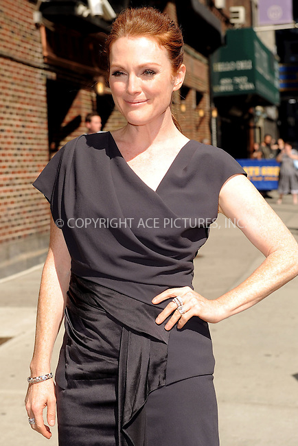 WWW.ACEPIXS.COM . . . . . ....June 30 2010, New York City....Actress Julianne Moore made an appearance at 'The late show with David Letterman' on June 30 2010 in New York City....Please byline: KRISTIN CALLAHAN - ACEPIXS.COM.. . . . . . ..Ace Pictures, Inc:  ..(212) 243-8787 or (646) 679 0430..e-mail: picturedesk@acepixs.com..web: http://www.acepixs.com