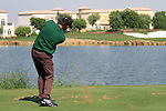 Anders Hansen tees off on the par3 6th tee during Day 1 of the Dubai World Championship, Earth Course, Jumeirah Golf Estates, Dubai, 25th November 2010..(Picture Eoin Clarke/www.golffile.ie)