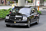 A vehicle carrying Japan's new Emperor Naruhito upon arriving at the Imperial Palace in Tokyo, Japan on May 1, 2019, the first day of the Reiwa Era. (Photo by MATSUO.K/AFLO)