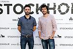 Spanish Film director Rodrigo Sorogoyen (left) and spanish actor Javier Pereira (right) attend the photocall of the movie 'Stockholm'. November 5, 2013. (ALTERPHOTOS/Alex Caparros)