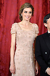 Princess Letizia of Spain attends the honor dinner for the Imperial Highness the Crown Prince of Japan Hiro-no-miya Naruhito Shinno in the Royal Palace.June 12,2013. (ALTERPHOTOS/Pool)