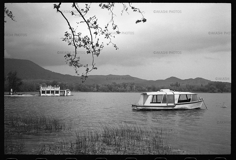 Boat on the lake of Banyoles.