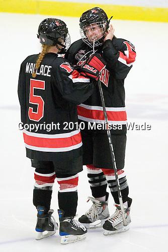 Kelly Wallace (NU - 5), Lindsay Berman (NU - 13) - The Harvard University Crimson defeated the Northeastern University Huskies 1-0 to win the 2010 Beanpot on Tuesday, February 9, 2010, at the Bright Hockey Center in Cambridge, Massachusetts.