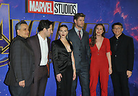 Joe Russo, Paul Rudd, Scarlett Johansson, Chris Hemsworth, Trinh Tran and Anthony Russo at the &quot;Avengers: Endgame&quot; UK fan event, Picturehouse Central, Corner of Shaftesbury Avenue and Great Windmill Street, London, England, UK, on Wednesday 10th April 2019.<br /> CAP/CAN<br /> &copy;CAN/Capital Pictures