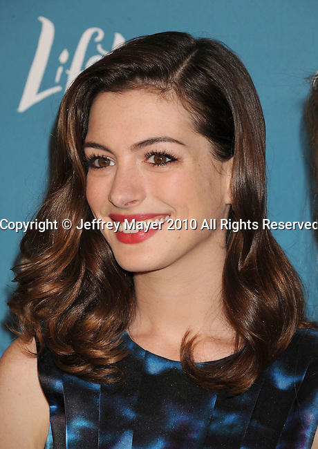 BEVERLY HILLS, CA. - September 30: Anne Hathaway arrives at Variety's 2nd Annual Power Of Women Luncheon at The Beverly Hills Hotel on September 30, 2010 in Beverly Hills, California.