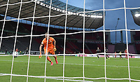 04.07.2020, Fussball DFB Pokal Finale, Bayer 04 Leverkusen - FC Bayern Muenchen emspor, Lukas Hradecky (Bayer Leverkusen), Robert Lewandowski (FC Bayern Muenchen) Goal scored, erziehlt das Tor zum 0:3 <br /> <br /> Foto: Kevin Voigt/Jan Huebner/Pool/Marc Schueler/Sportpics.de<br /> <br /> (DFL/DFB REGULATIONS PROHIBIT ANY USE OF PHOTOGRAPHS as IMAGE SEQUENCES and/or QUASI-VIDEO - Editorial Use ONLY, National and International News Agencies OUT)