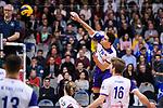 09.12.2018, ZF Arena, Friedrichshafen<br />Volleyball, Bundesliga MŠnner / Maenner, Normalrunde VfB Friedrichshafen vs. United Volleys Frankfurt<br /><br />Angriff Milija Mrdak (#15 Frankfurt)<br /><br />  Foto © nordphoto / Kurth