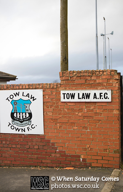Tow Law Town 2 Heaton Stannington 2, 25.02.2014. Ironworks Road, Tow Law. The home of Tow Law Town, the Ironworks Road ground, pictured before the club hosted Heaton Stannington in a Northern League division two fixture. It was the visitors first visit to Tow Law, having been promoted from the Northern Alliance last season. The match ended in a 2-2 draw, with the home team equalising in the last minute after having their goalkeeper sent off. Photo by Colin McPherson.