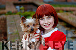 Saoirse Wenk with Squirt the Yorkshire terrier.