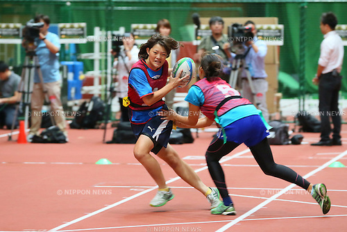 Tomomi Kozasa, <br /> SEPTEMBER 14, 2013 : <br /> National talent identification and development project <br /> First shot &quot;Tall x Speed x Women&quot; <br /> at JISS, Tokyo, Japan. <br /> (Photo by YUTAKA/AFLO SPORT) [1040]