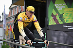 Robert Gesink (NED) Team Jumbo-Visma at sign on before the start of the 105th edition of Li&egrave;ge-Bastogne-Li&egrave;ge 2019, La Doyenne, running 256km from Liege to Liege, Belgium. 28th April 2019<br /> Picture: ASO/Gautier Demouveaux | Cyclefile<br /> All photos usage must carry mandatory copyright credit (&copy; Cyclefile | ASO/Gautier Demouveaux)