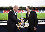 Rangers manager Mark Warburton and Peterhead manager Jim McInally at the Petrofac Cup Final press conference at Hampden