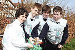 St Mary's students, Andy McLoughlan, Dara Golden, Niall Meade and Conor McQuillan taking part in National Spring Clean Week...(Photo credit should read Jenny Matthews www.newsfile.ie)....This Picture has been sent you under the conditions enclosed by:.Newsfile Ltd..The Studio,.Millmount Abbey,.Drogheda,.Co Meath..Ireland..Tel: +353(0)41-9871240.Fax: +353(0)41-9871260.GSM: +353(0)86-2500958.email: pictures@newsfile.ie.www.newsfile.ie.