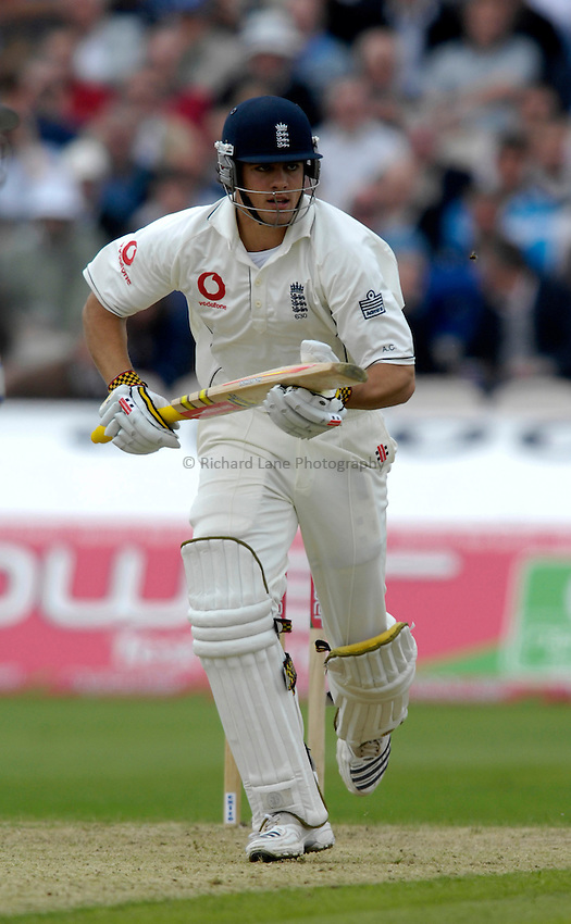 Photo: Jed Wee/Richard Lane Photography..England v West Indies. 3rd Test npower Test Match Series. 07/06/2007...England's Alastair Cook runs.