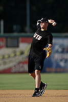 May 28 2009: Jason Van Kooten of the Modesto Nuts before game against the Inland Empire 66'ers at Arrowhead Credit Union Park in San Bernardino,CA.  Photo by Larry Goren/Four Seam Images