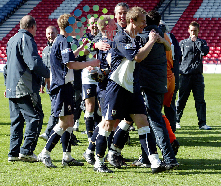 Mark Campball celebrates as his brother Martin down at Ayr just fail.Picture: Universal News and Sport (Scotland) 02/5/09 .