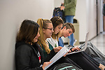 Students study for a chemistry test in Coulter Hall.  Photo by Kevin Bain/University Communications Photography