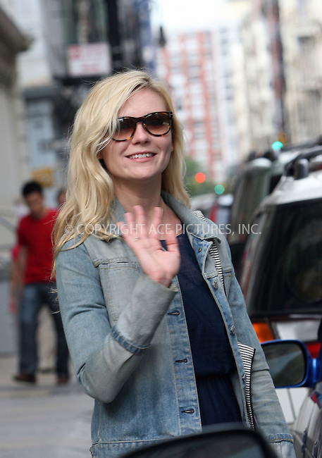 WWW.ACEPIXS.COM . . . . .  ....September 7 2009, New York City....Actress Kirsten Dunst was seen walking in Soho on September 7 2009 in New York City....Please byline: NANCY RIVERA- ACE PICTURES.... *** ***..Ace Pictures, Inc:  ..tel: (212) 243 8787 or (646) 769 0430..e-mail: info@acepixs.com..web: http://www.acepixs.com