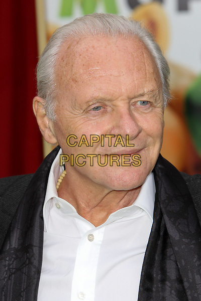 "SIR ANTHONY HOPKINS.World Premiere of Disney's ""The Muppets,"" at the El Capitan Theatre. Hollywood, CA USA. .headshot portrait black white  .November 12th, 2011.CAP/CEL ©CelPh/Capital Pictures."