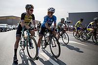 2 (former) CX World Champions &amp; race favourites Lars Boom (NED/LottoNL-Jumbo) &amp; Wout Van Aert (BEL/V&eacute;randas Willems-Crelan) meeting up on the start grid<br /> <br /> 92th Schaal Sels 2017