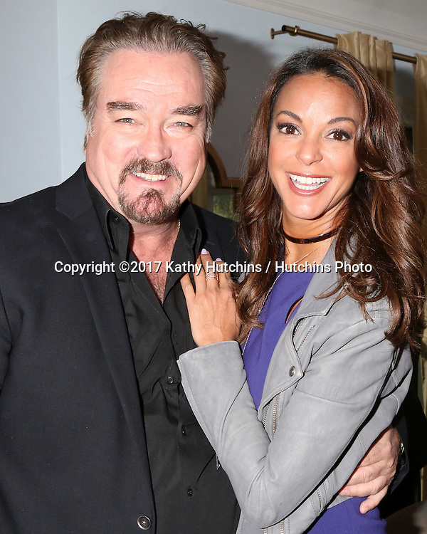 """LOS ANGELES - JAN 5:  John Callahan, Eva LaRue at the """"All My Children"""" Reunion on """"Home and Family"""" Show at Universal Studios on January 5, 2017 in Los Angeles, CA"""
