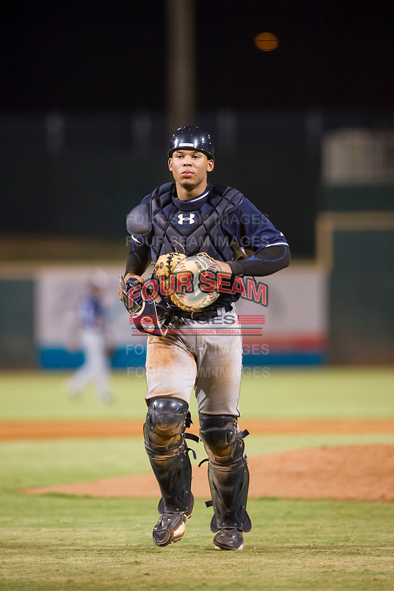 AZL Padres catcher Luis Campusano (29) on defense against the AZL Indians on August 30, 2017 at Goodyear Ball Park in Goodyear, Arizona. AZL Padres defeated the AZL Indians 7-6. (Zachary Lucy/Four Seam Images)