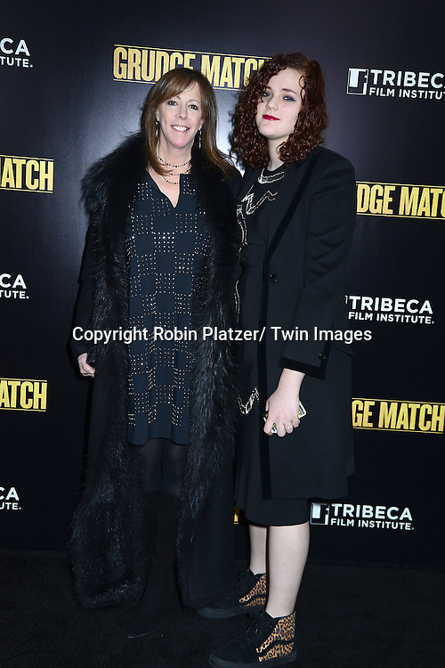 "Jane Rosenthal and daughter Isabella attends the World Premiere of ""Grudge Match"" at the Ziegfeld Theatre in New Yok City on December 16, 2013."