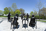 Famous five monument statues on Parliament Hill, Ottawa, Ontario, Canada