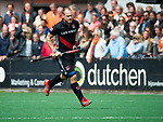 BLOEMENDAAL   - Hockey - vreugde bij Teun Rohof (A'dam) . 3e en beslissende  wedstrijd halve finale Play Offs heren. Bloemendaal-Amsterdam (0-3). Amsterdam plaats zich voor de finale.  COPYRIGHT KOEN SUYK
