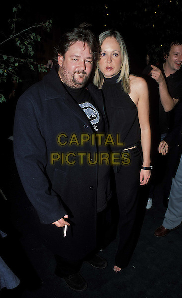 JOHNNY VEGAS & WIFE.Blackball Film Premiere at Odeon West Ednd and Afterparty at The Porterhouse .www.capitalpictures.com.sales@capitalpictures.com.© Capital Pictures.smoking cigarette.