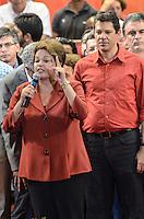 ATENCAO EDITOR IMAGEM EMBARGADA PARA VEICULOS INTERNACIONAIS - SAO PAULO, SP, 20 OUTUBRO 2012 - ELEICOES 2012 - FERNANDO HADDAD - O candidato a prefeitura pelo Partido dos Trabalhadores Fernando Haddad durante comício com presenca presidente da Republica Dilma Rousseff (FOTO) e o ex presidente Luiz Inacio Lula da Silva no Ginasio do Caninde na regiao norte da capital paulista, neste sábado, 20. (FOTO: ALEXANDRE MOREIRA / BRAZIL PHOTO PRESS).