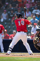 Mitch Delfino (10) of the Richmond Flying Squirrels at bat against the Bowie Baysox at The Diamond on May 24, 2015 in Richmond, Virginia.  The Flying Squirrels defeated the Baysox 5-2.  (Brian Westerholt/Four Seam Images)