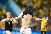 Kingston, Jamaica - Friday, June 7, 2013: USMNT 2-1 over Jamaica  during World Cup qualifying at the National Stadium. Brad Evans celebrates after scoring the winning goal.