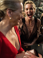 Leslie Bibb reacts to Oscar&reg;-nominee Meryl Streep during the live ABC Telecast of the 90th Oscars&reg; at the Dolby&reg; Theatre in Hollywood, CA on Sunday, March 4, 2018.<br /> *Editorial Use Only*<br /> CAP/PLF/AMPAS<br /> Supplied by Capital Pictures