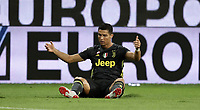 Calcio, Serie A: Parma - Juventus, Parma stadio Ennio Tardini, 1 settembre 2018.<br /> Juventus' Cristiano Ronaldo reacts during the Italian Serie A football match between Parma and Juventus at Parma's Ennio Tardini stadium, September 1, 2018. <br /> UPDATE IMAGES PRESS/Isabella Bonotto