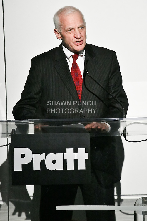 Dr. Thomas F. Schutte - President of Pratt Institute - gives opening remarks during the Pratt Institute 2010 Fashion Show on May 13, 2010.