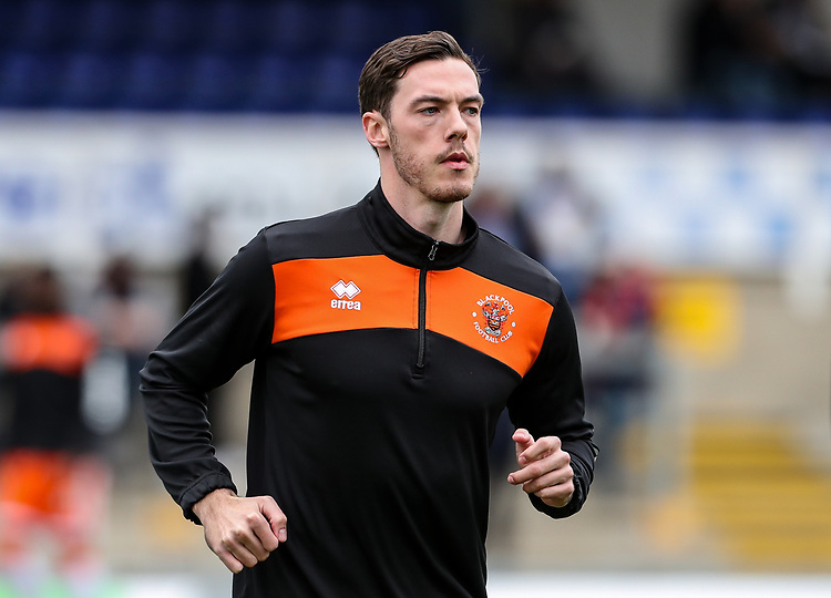 Blackpool's Ben Heneghan <br /> <br /> Photographer Andrew Kearns/CameraSport<br /> <br /> The EFL Sky Bet League Two - Bristol Rovers v Blackpool - Saturday 2nd March 2019 - Memorial Stadium - Bristol<br /> <br /> World Copyright © 2019 CameraSport. All rights reserved. 43 Linden Ave. Countesthorpe. Leicester. England. LE8 5PG - Tel: +44 (0) 116 277 4147 - admin@camerasport.com - www.camerasport.com