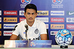 The coach and one of the players of Buriram United (THA) speak at the press conference on 22 February 2016, one day before the 2016 AFC Champions League Group F Match Day 1 match between BURIRAM UNITED (THA) vs FC SEOUL (KOR) in Buriram, Thailand.