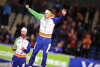 SCHAATSEN: HEERENVEEN: IJsstadion Thialf, 11-01-2013, Seizoen 2012-2013, Essent ISU EK allround, podium 5000m Men, Sven Kramer (NED), ©foto Martin de Jong