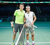 Februari 12, 2015, Netherlands, Rotterdam, Ahoy, ABN AMRO World Tennis Tournament, Simone Bolelli (ITA) - Milo Raonic (CAN)<br /> Photo: Tennisimages/Henk Koster