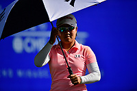 Nasa Hataoka of Japan puts the umbrella up to guard against the sun during the third round of the ANA Inspiration at the Mission Hills Country Club in Palm Desert, California, USA. 3/31/18.<br /> <br /> Picture: Golffile | Bruce Sherwood<br /> <br /> <br /> All photo usage must carry mandatory copyright credit (&copy; Golffile | Bruce Sherwood)during the second round of the ANA Inspiration at the Mission Hills Country Club in Palm Desert, California, USA. 3/31/18.<br /> <br /> Picture: Golffile | Bruce Sherwood<br /> <br /> <br /> All photo usage must carry mandatory copyright credit (&copy; Golffile | Bruce Sherwood)