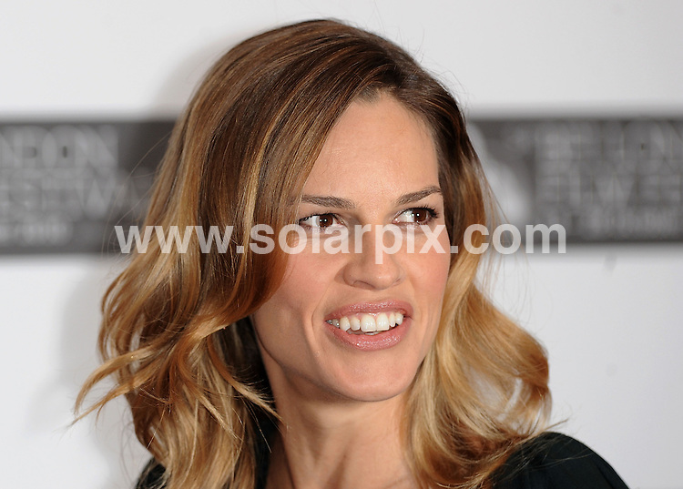 **ALL ROUND PICTURES FROM SOLARPIX.COM**                                             **WORLDWIDE SYNDICATION RIGHTS**                                                                                  Caption: Photo call for Conviction. Part of the BFI Film Festival Held at the Vue Cinema, Leicester Square, London, UK. 15 October 2010                                                                              This pic: Hilary Swank                                                                                             JOB REF: 12317 SSD       DATE: 15_10_2010                                                           **MUST CREDIT SOLARPIX.COM OR DOUBLE FEE WILL BE CHARGED**                                                                      **MUST AGREE FEE BEFORE ONLINE USAGE**                               **CALL US ON: +34 952 811 768 or LOW RATE FROM UK 0844 617 7637**