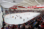 A general view of the LaBahn Arena during the Wisconsin Badgers NCAA women's college ice hockey game against the Minnesota Duluth Bulldogs Sunday, February 17, 2013, in Madison, Wis. The Badgers won 3-2 (OT) (Photo by David Stluka)