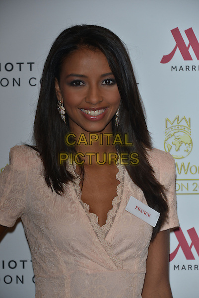 Miss France  Flora COQUEREL<br /> photocall for Miss World 2014 contestants in central London, on November 25, 2014. This year's Miss World contest will take place in London on December 14, 2014<br /> CAP/PL<br /> &copy;Phil Loftus/Capital Pictures