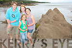 "Bronz Medals went to 4 local Kids last Saturday at Cappagh Strand Clahane/Brandon at the Sand Sculpture competition as part of the Feile Lughnasa annual summer festival,seen here with their entry ""Skellig Michael"" were Jennifer Robson,Aedammair O Leary,Ronan Brick and Mary Maunsell.."