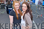 Sarah Alderdice and Erica Doona (both Killorglin) pictured queuing for the Union J concert at Denny Street on Friday.