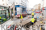 Roadworks in Tralee town centre on Wednesday.