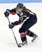 Caitlin Hewes (UConn - 17) - The Boston University Terriers defeated the visiting University of Connecticut Huskies 4-2 on Saturday, November 19, 2011, at Walter Brown Arena in Boston, Massachusetts.