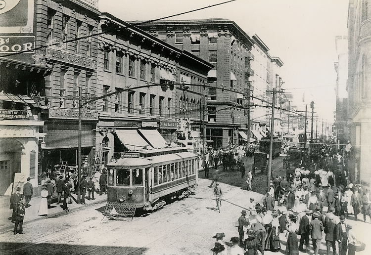 1910 - 1911.UNDATED..Historical..Looking North on Granby Street from City Hall Avenue.from the Carroll Walker Collection...NEG#.NRHA#..
